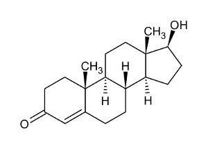 Strukturformel von Testosteron